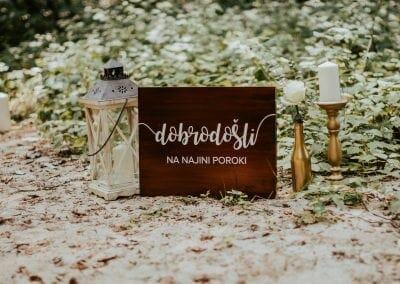 Tabla dobrodošlice na poroki