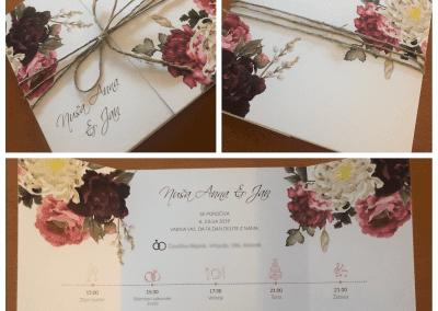 Poročna vabila z rožicami